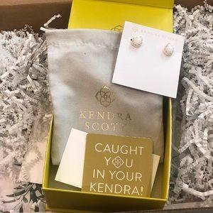 Kendra Scott bride earrings